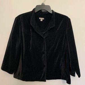 🎃J JILL Black Velvet Jacket Blazer